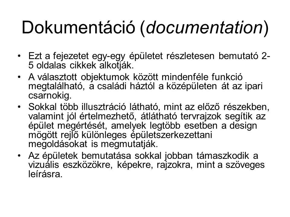 Dokumentáció (documentation)