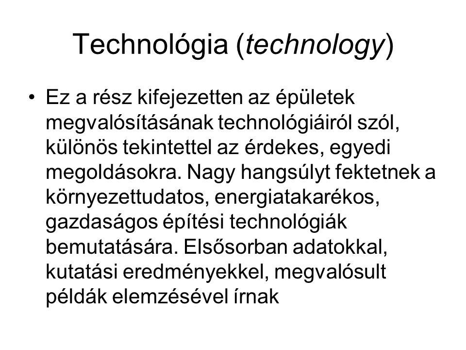 Technológia (technology)