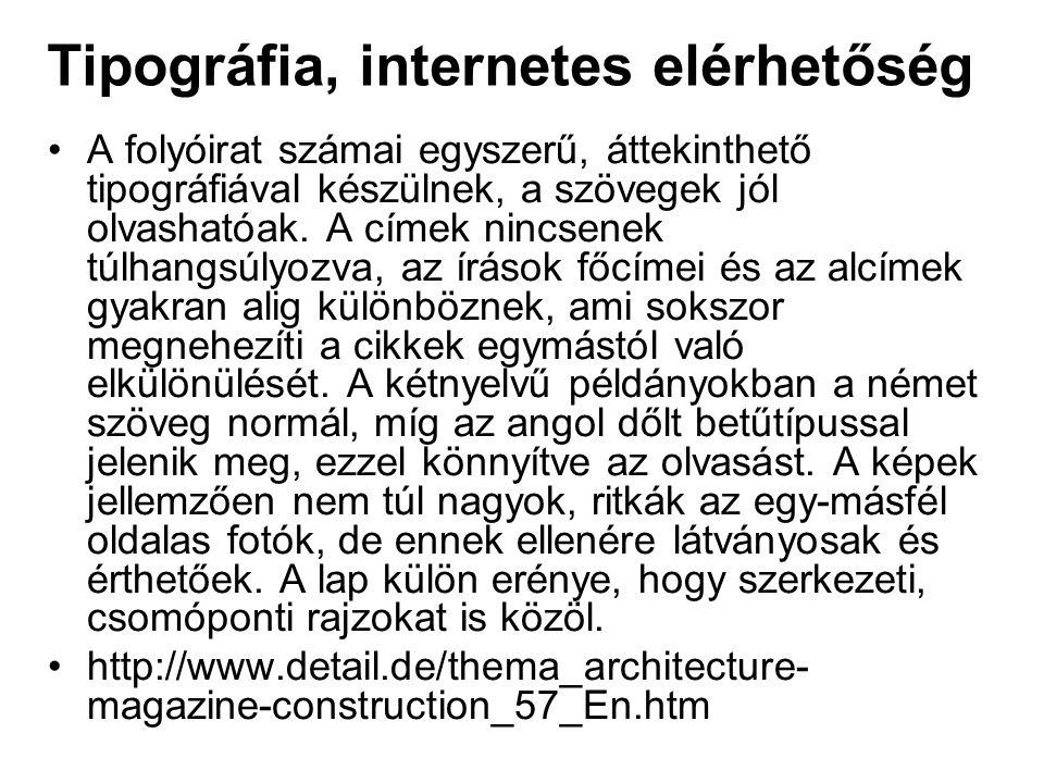 Tipográfia, internetes elérhetőség