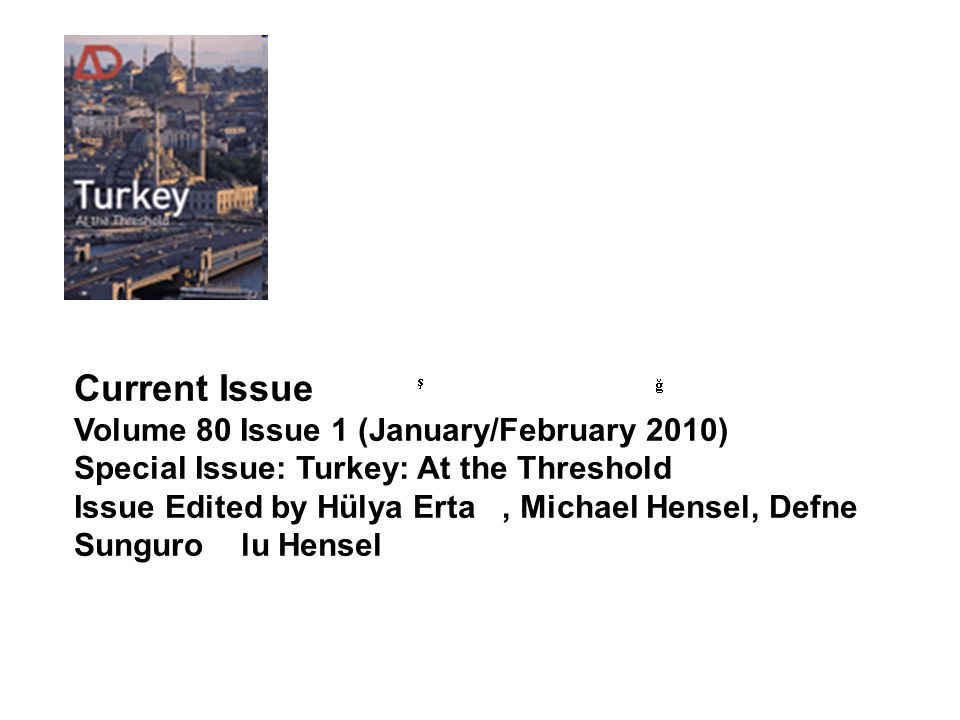 Current Issue Volume 80 Issue 1 (January/February 2010)