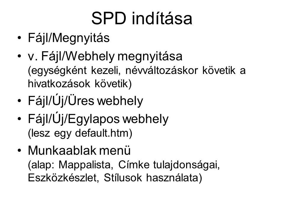 SPD indítása Fájl/Megnyitás