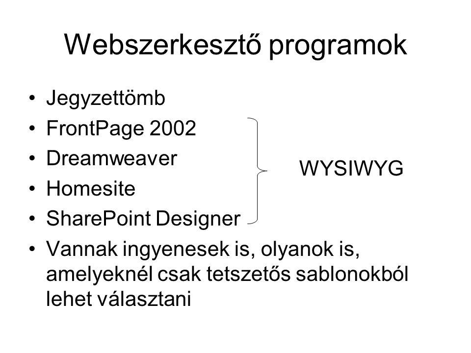 Webszerkesztő programok