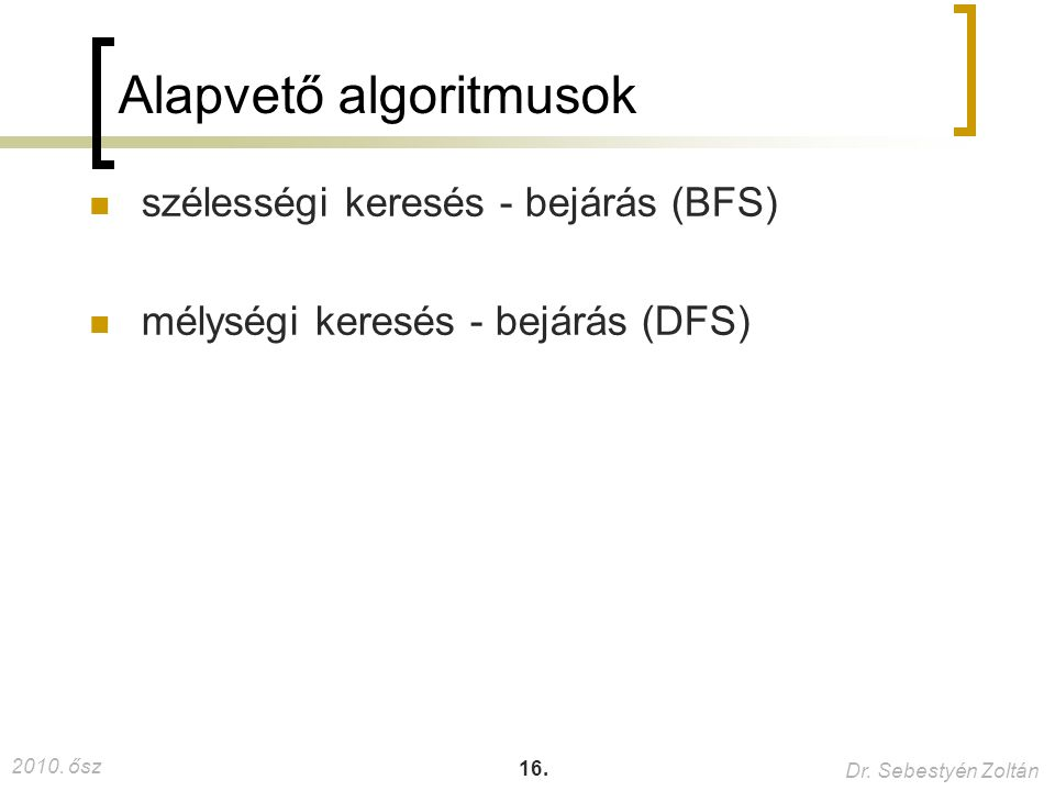 Alapvető algoritmusok