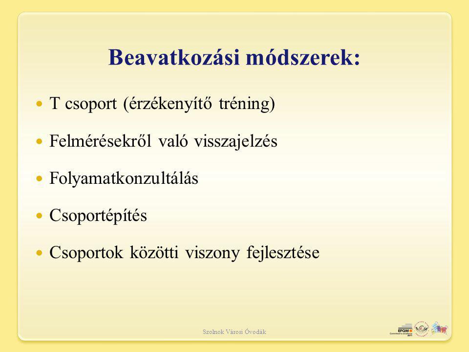 Beavatkozási módszerek: