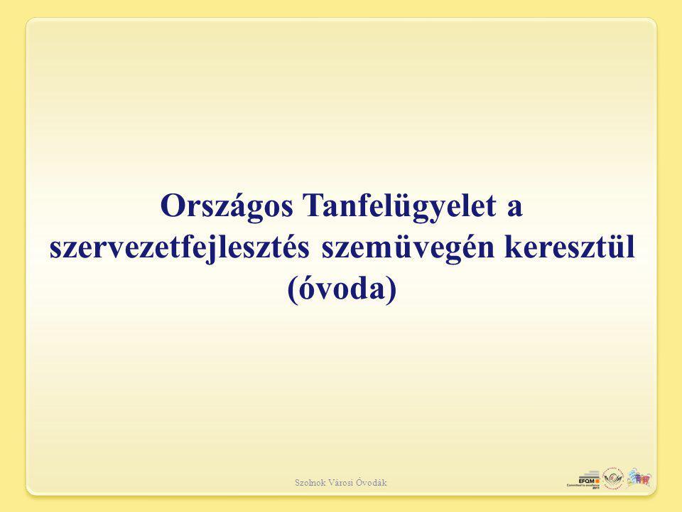 Országos Tanfelügyelet a szervezetfejlesztés szemüvegén keresztül (óvoda)