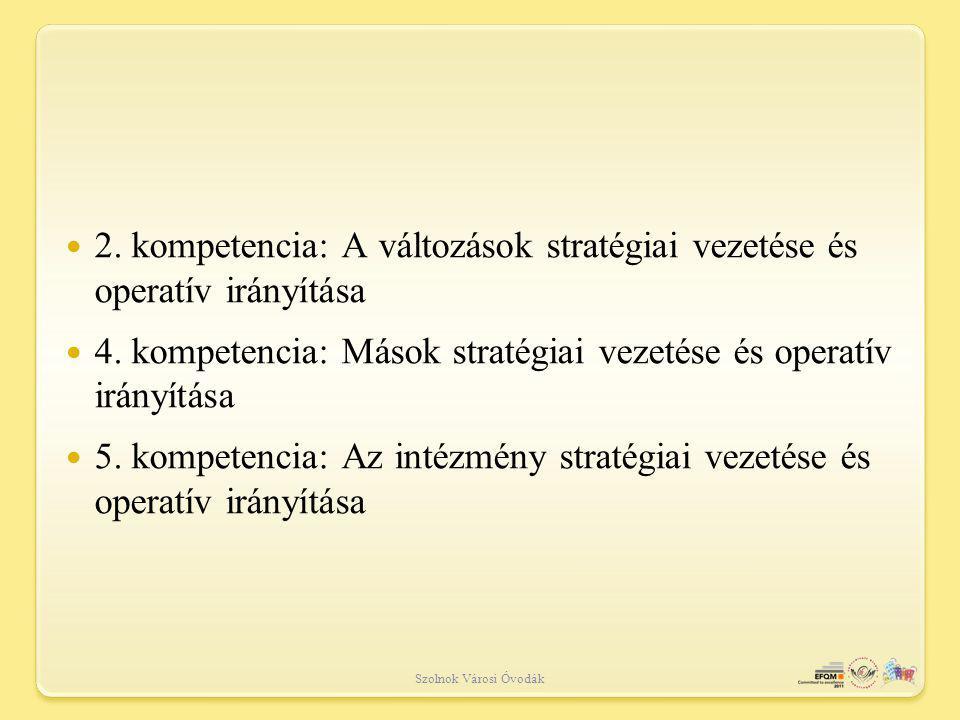 4. kompetencia: Mások stratégiai vezetése és operatív irányítása