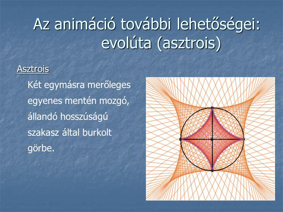Az animáció további lehetőségei: evolúta (asztrois)