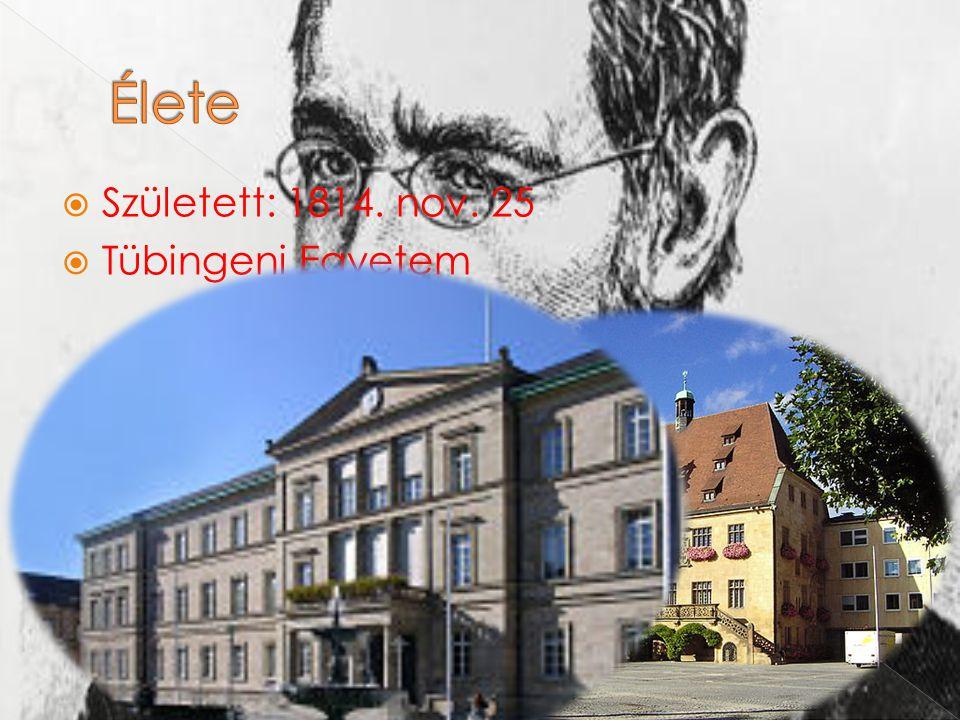 Élete Született: 1814. nov. 25 Tübingeni Egyetem