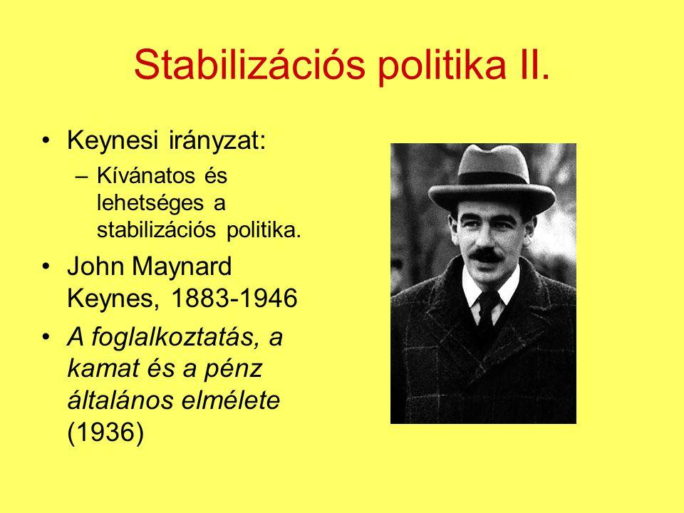 Stabilizációs politika II.