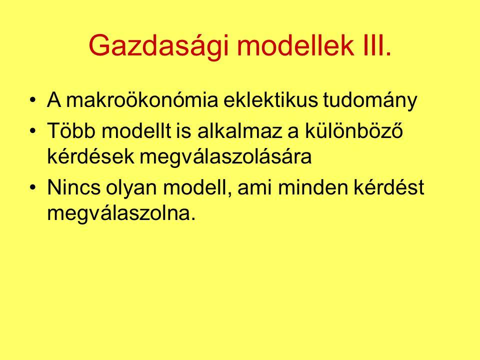 Gazdasági modellek III.