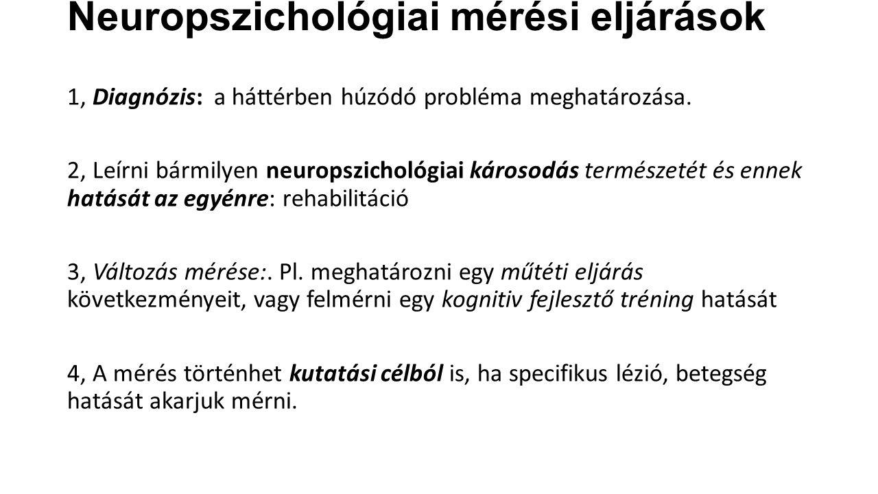 Neuropszichológiai mérési eljárások