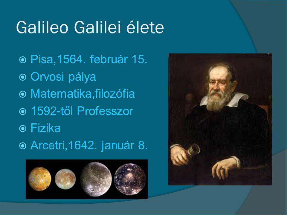 Galileo Galilei élete Pisa,1564. február 15. Orvosi pálya