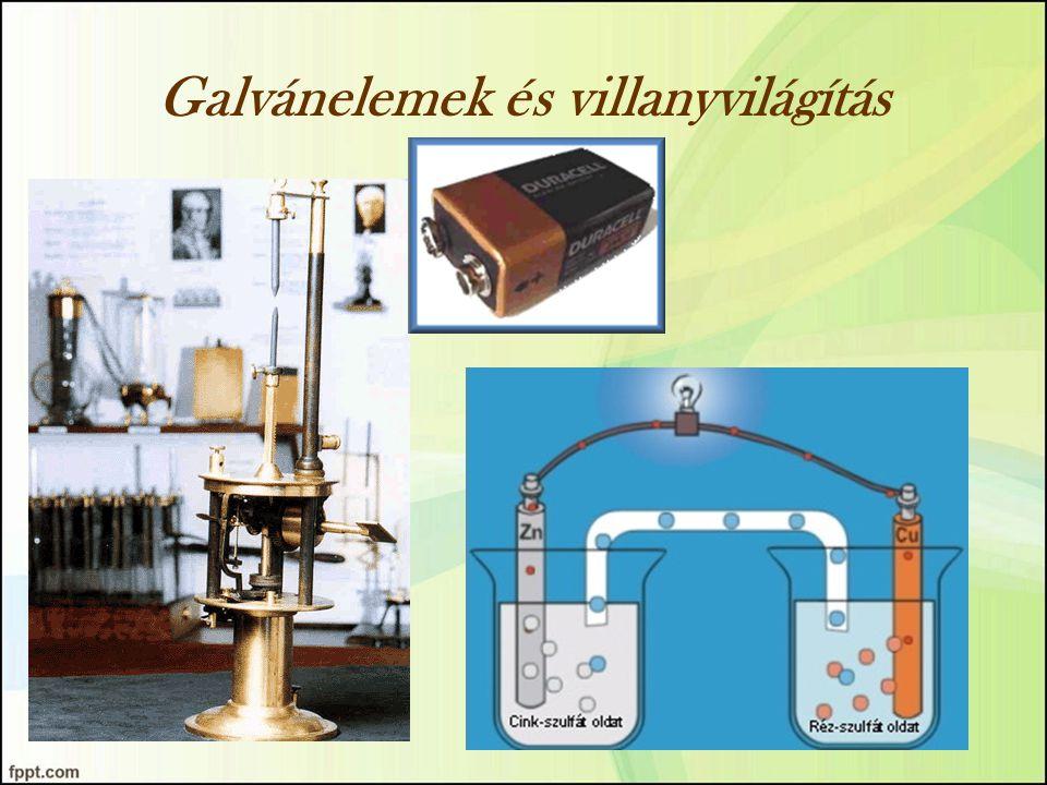 Galvánelemek és villanyvilágítás