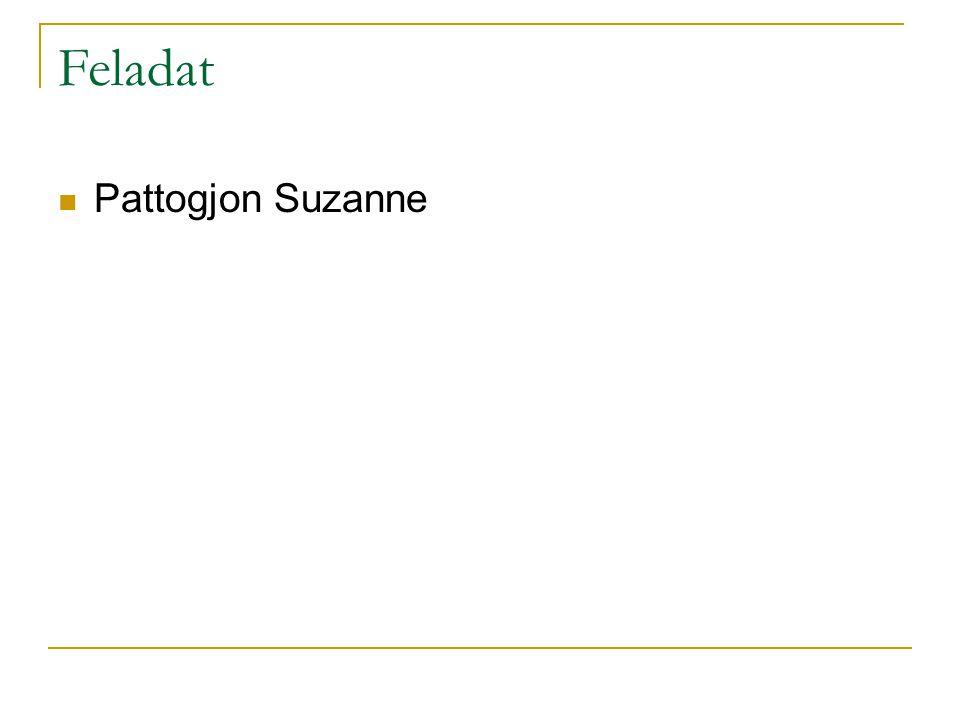 Feladat Pattogjon Suzanne