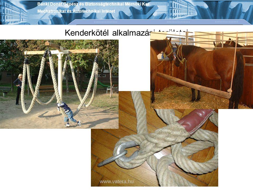 Kenderkötél alkalmazási területei
