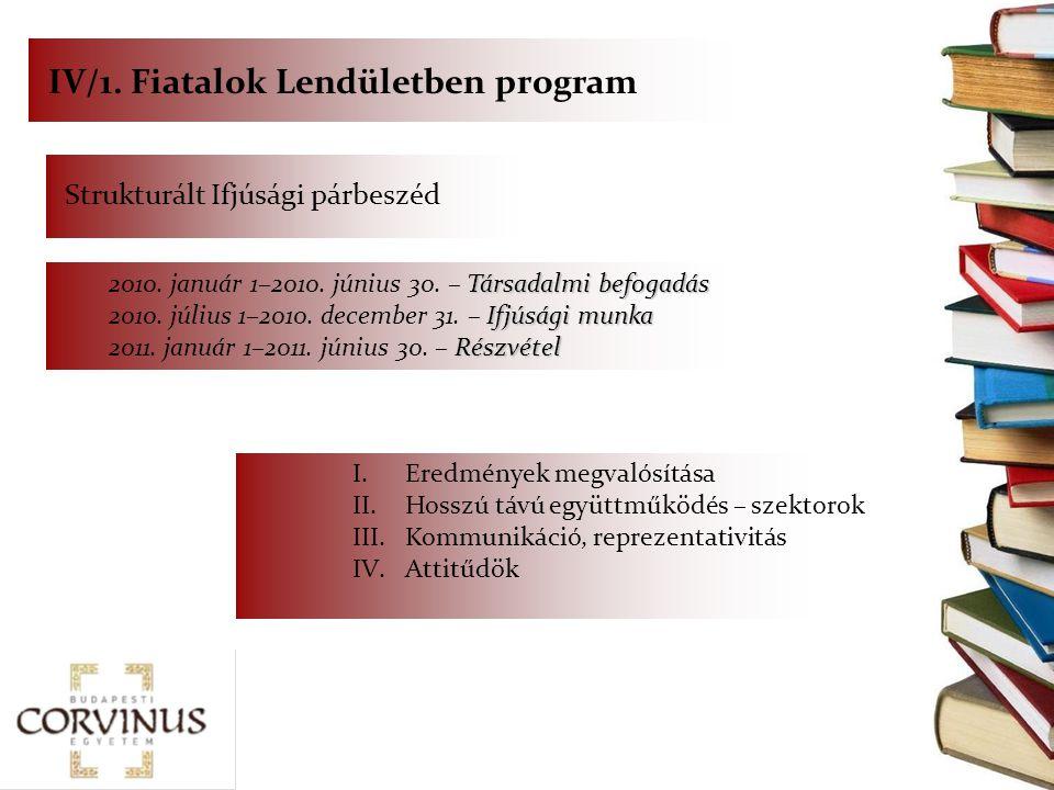 IV/1. Fiatalok Lendületben program