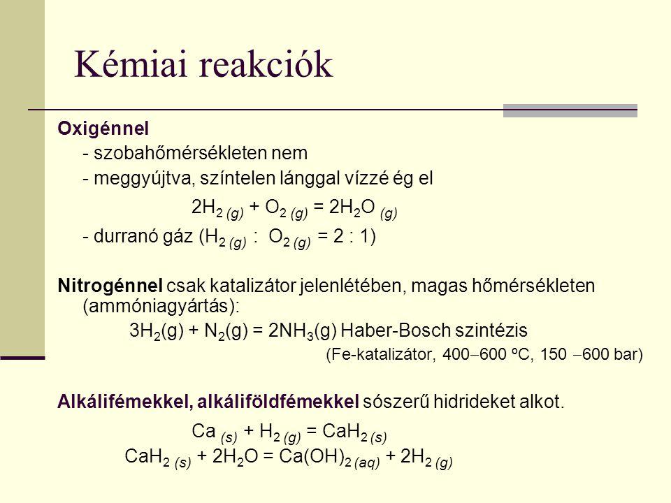 Kémiai reakciók Oxigénnel - szobahőmérsékleten nem