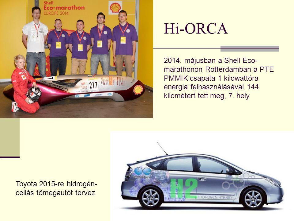 Hi-ORCA 2014. májusban a Shell Eco-marathonon Rotterdamban a PTE PMMIK csapata 1 kilowattóra energia felhasználásával 144 kilométert tett meg, 7. hely