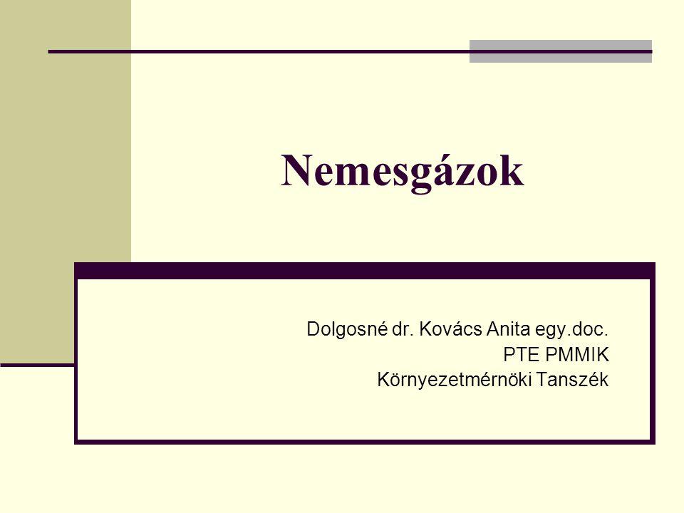 Dolgosné dr. Kovács Anita egy.doc. PTE PMMIK Környezetmérnöki Tanszék