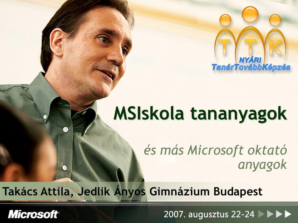 és más Microsoft oktató anyagok