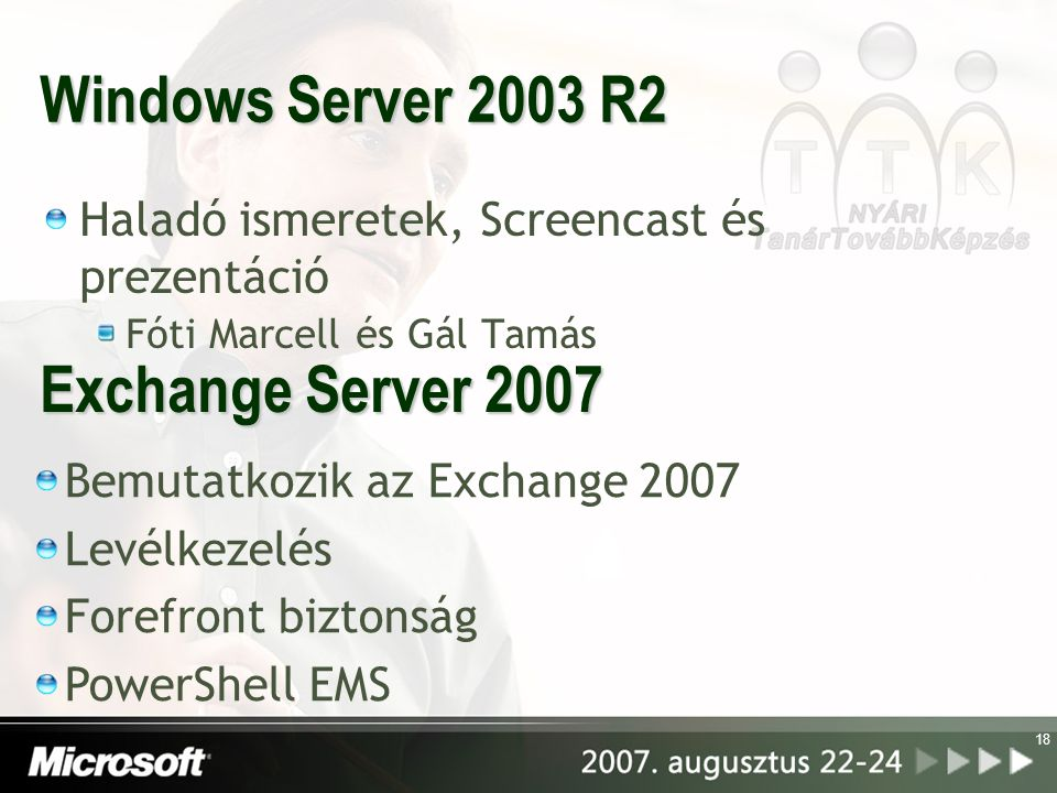 Windows Server 2003 R2 Exchange Server 2007