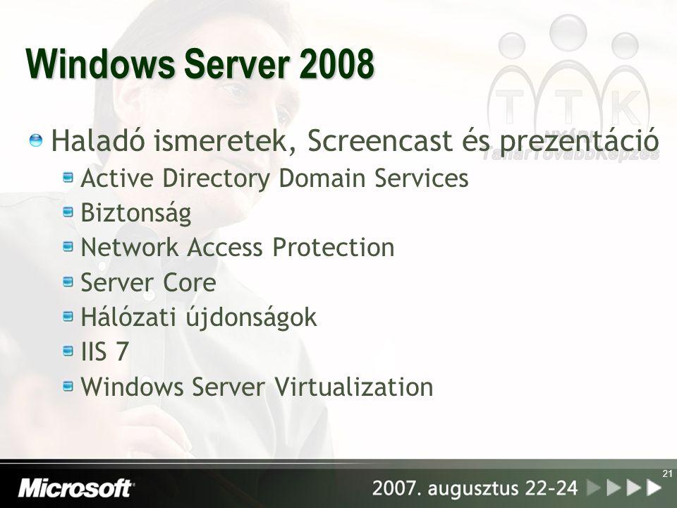 Windows Server 2008 Haladó ismeretek, Screencast és prezentáció