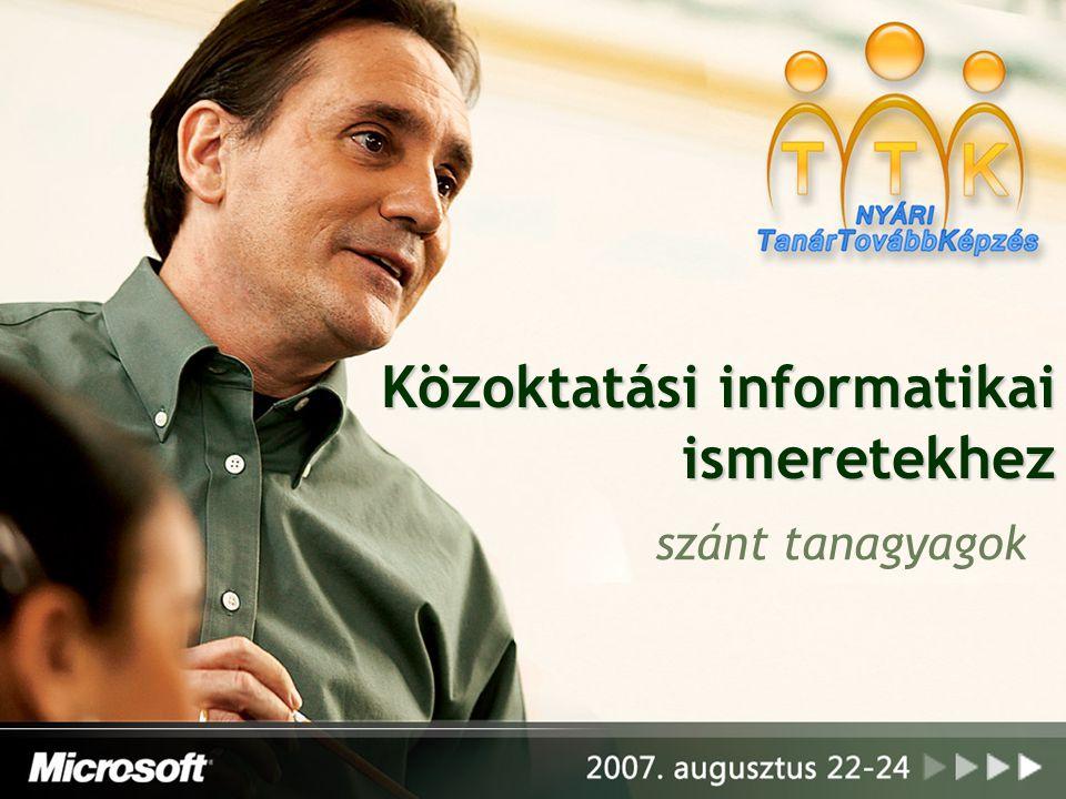 Közoktatási informatikai ismeretekhez