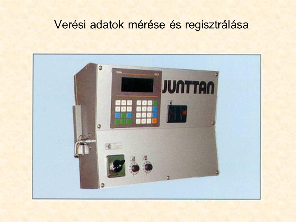 Verési adatok mérése és regisztrálása