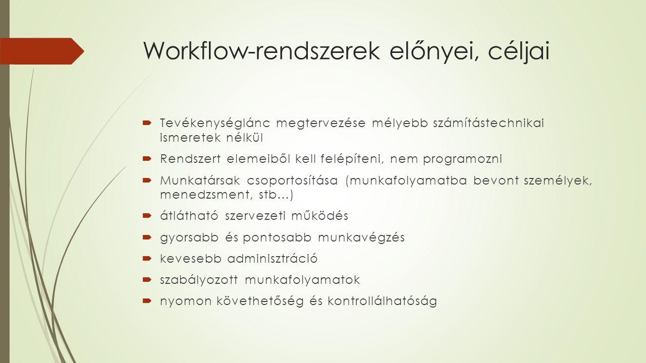 Workflow-rendszerek előnyei, céljai