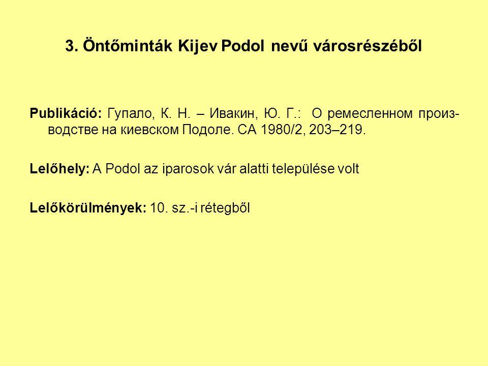 3. Öntőminták Kijev Podol nevű városrészéből
