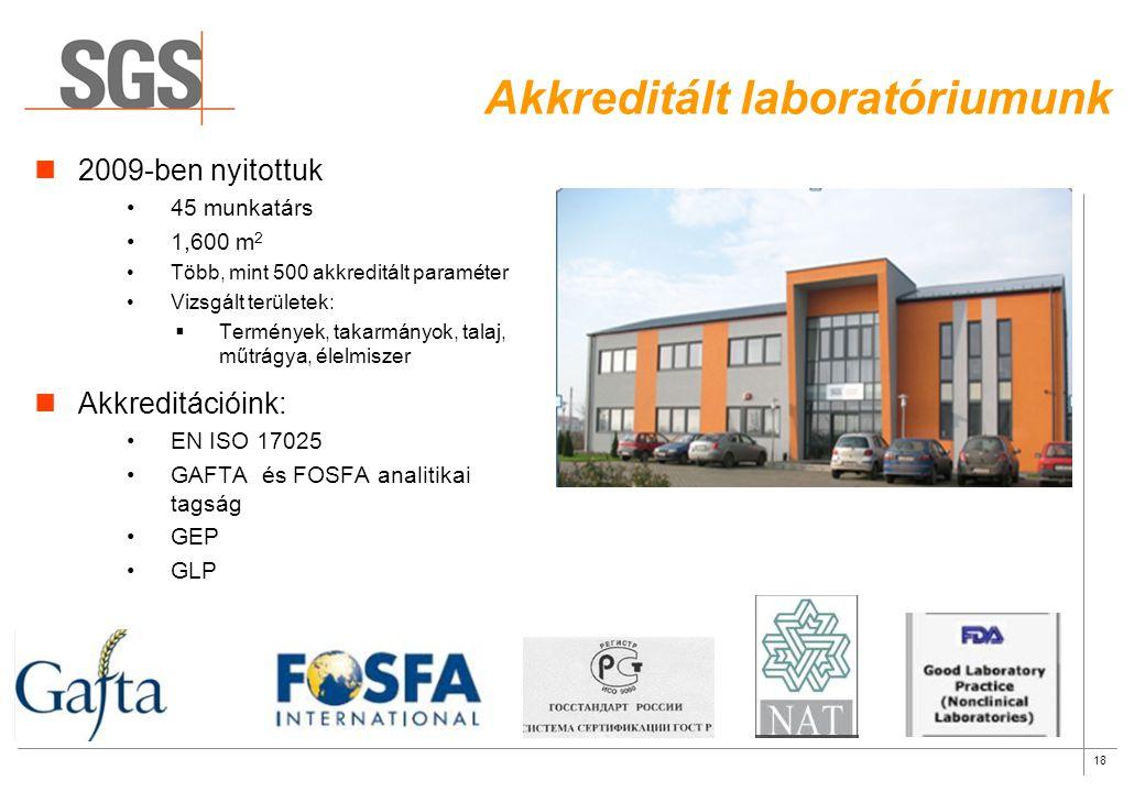 Akkreditált laboratóriumunk