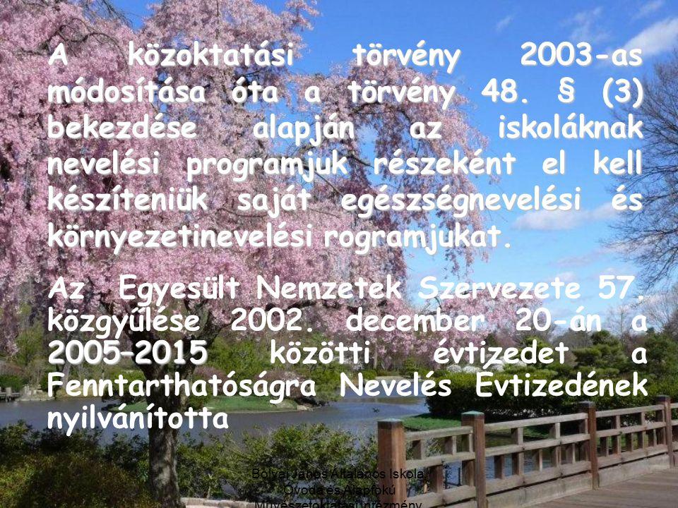 A közoktatási törvény 2003-as módosítása óta a törvény 48