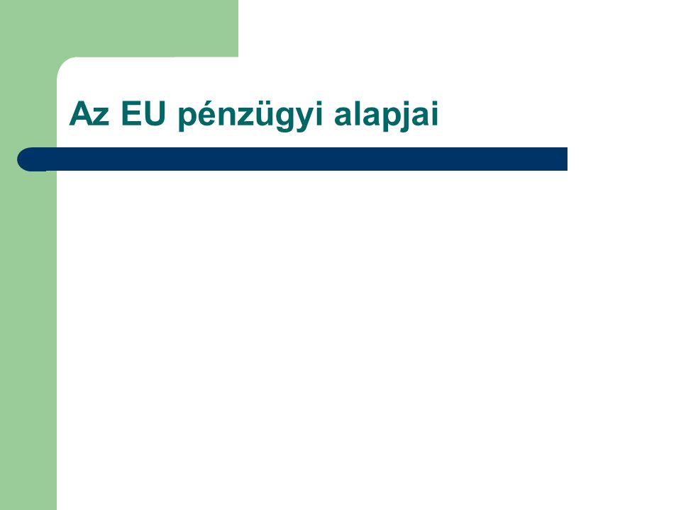 Az EU pénzügyi alapjai