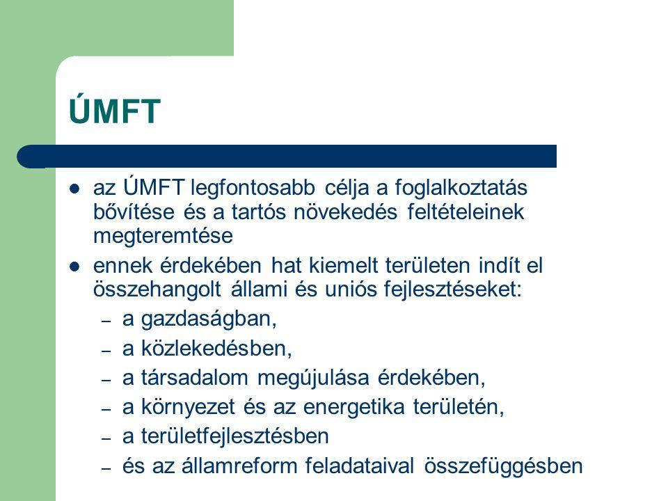 ÚMFT az ÚMFT legfontosabb célja a foglalkoztatás bővítése és a tartós növekedés feltételeinek megteremtése.