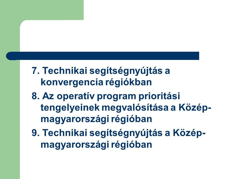 7. Technikai segítségnyújtás a konvergencia régiókban