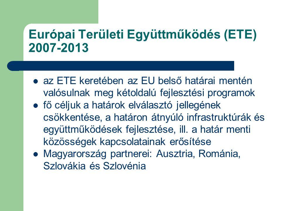 Európai Területi Együttműködés (ETE) 2007-2013