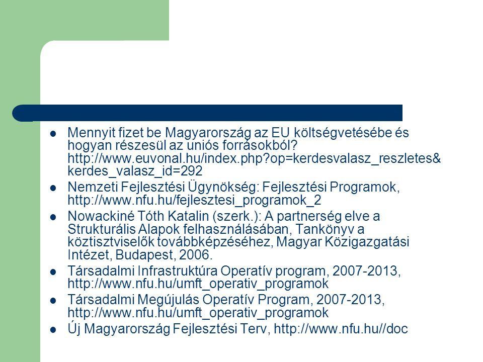 Mennyit fizet be Magyarország az EU költségvetésébe és hogyan részesül az uniós forrásokból http://www.euvonal.hu/index.php op=kerdesvalasz_reszletes&kerdes_valasz_id=292