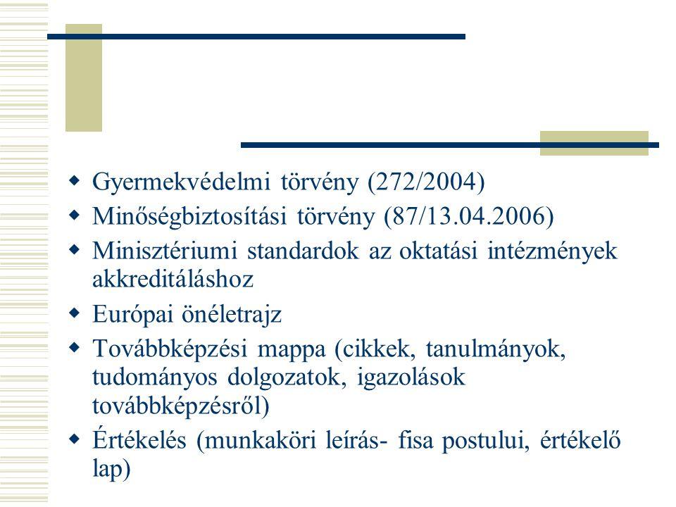 Gyermekvédelmi törvény (272/2004)