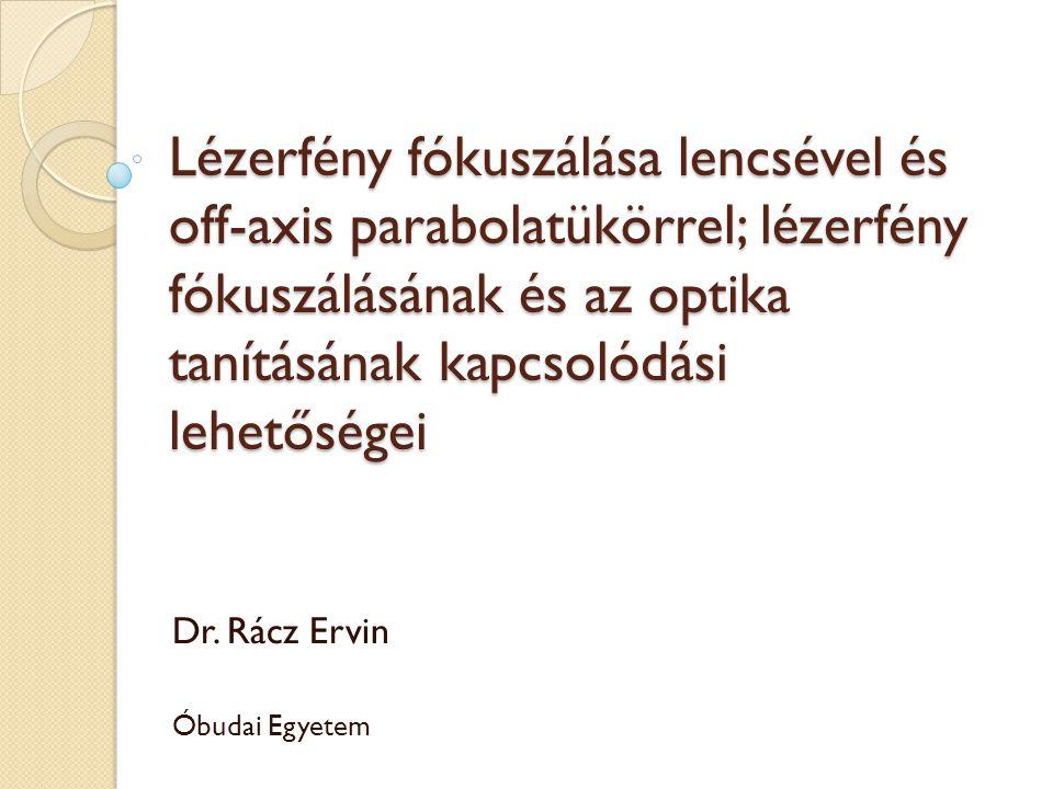Dr. Rácz Ervin Óbudai Egyetem