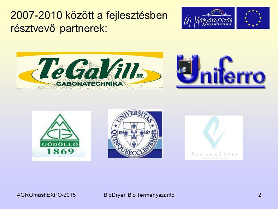 2007-2010 között a fejlesztésben résztvevő partnerek: