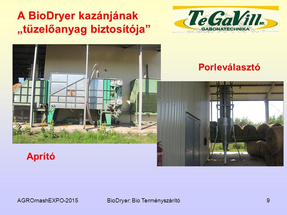 """A BioDryer kazánjának """"tüzelőanyag biztosítója"""