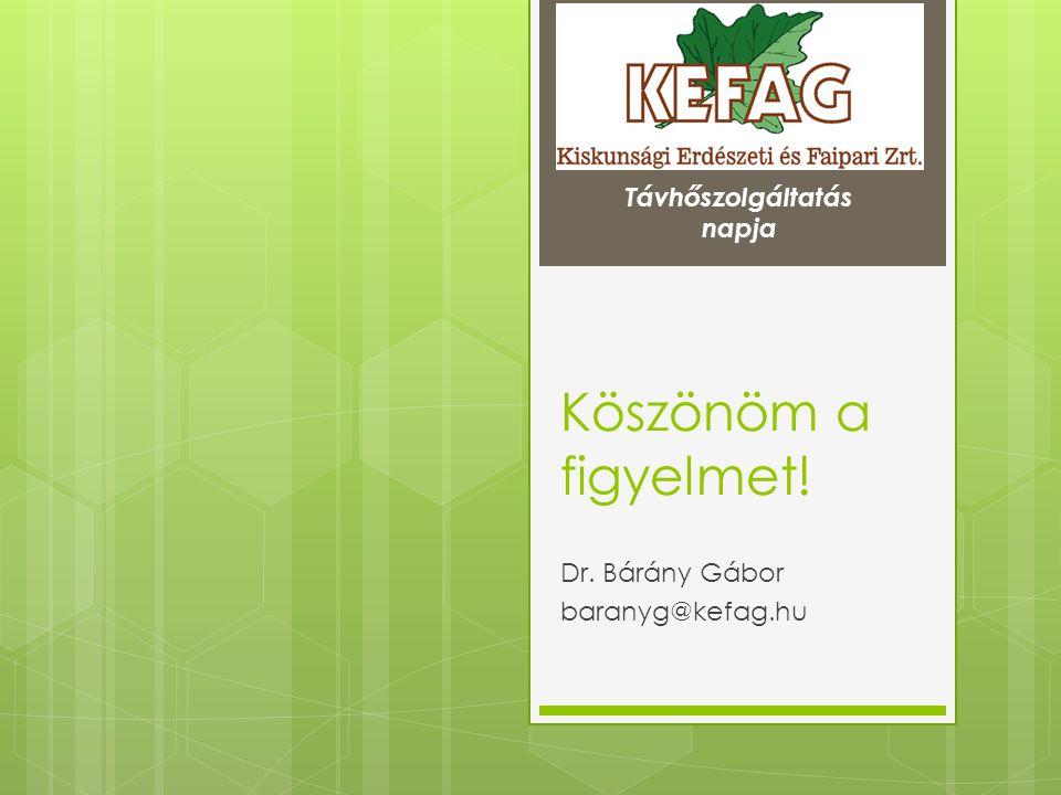 Dr. Bárány Gábor baranyg@kefag.hu