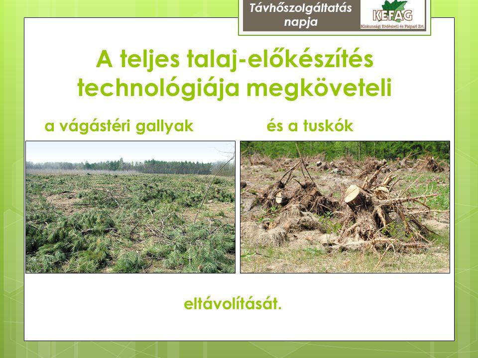 A teljes talaj-előkészítés technológiája megköveteli