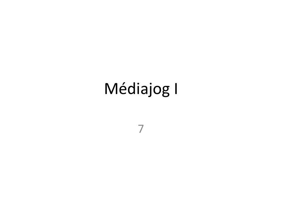 Médiajog I 7