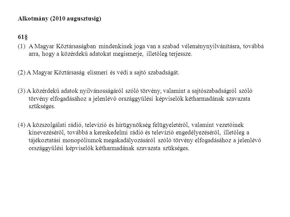 Alkotmány (2010 augusztusig)