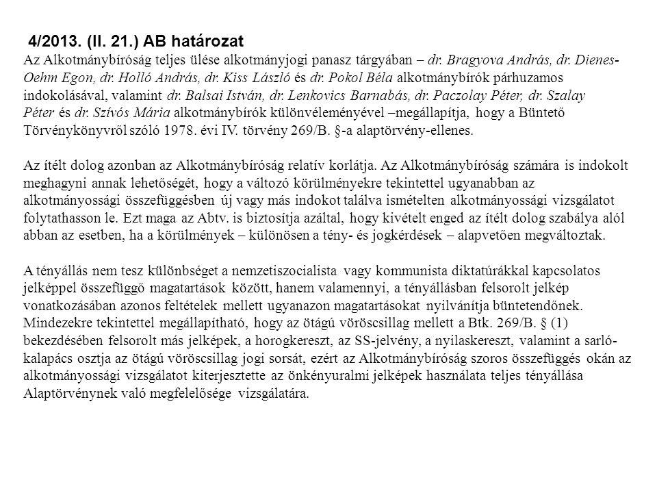 4/2013. (II. 21.) AB határozat