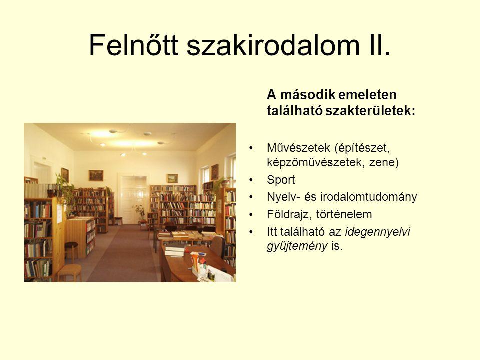 Felnőtt szakirodalom II.