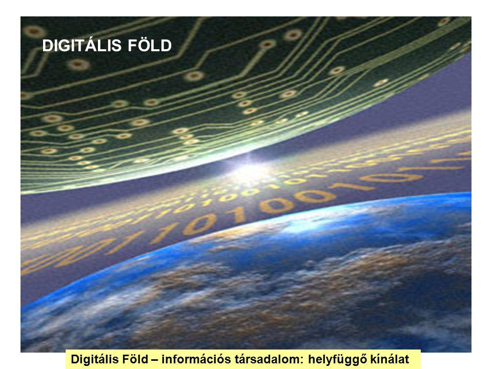 DIGITÁLIS FÖLD Digitális Föld – információs társadalom: helyfüggő kínálat