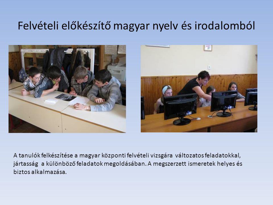 Felvételi előkészítő magyar nyelv és irodalomból