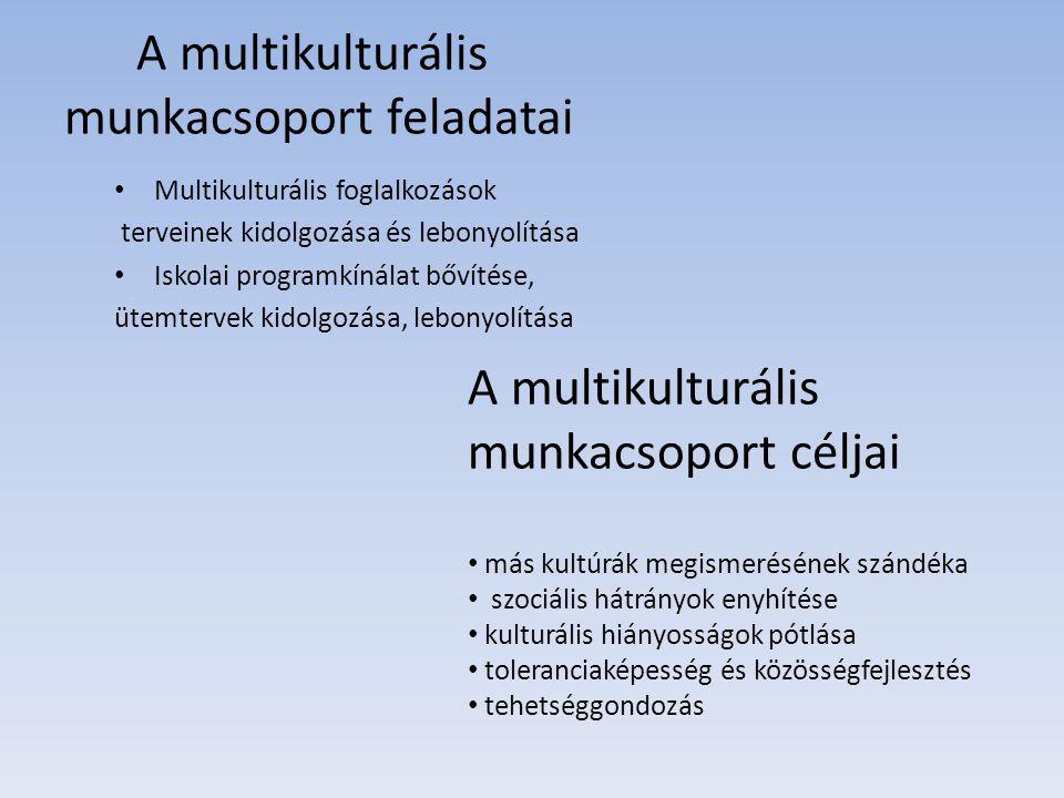 A multikulturális munkacsoport feladatai